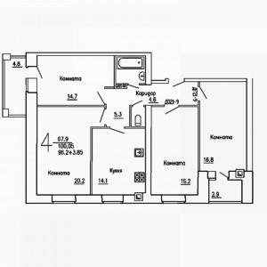 4 комнатная